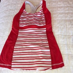 Lululemon striped tank top